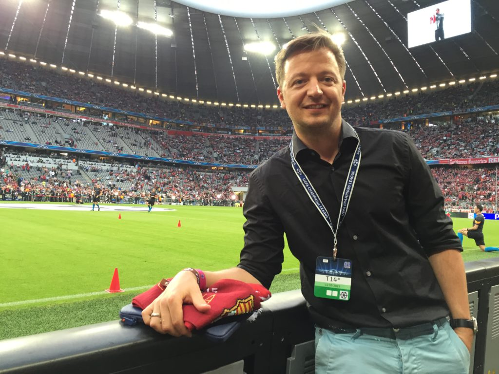 Kai Psotta in der Allianzarena